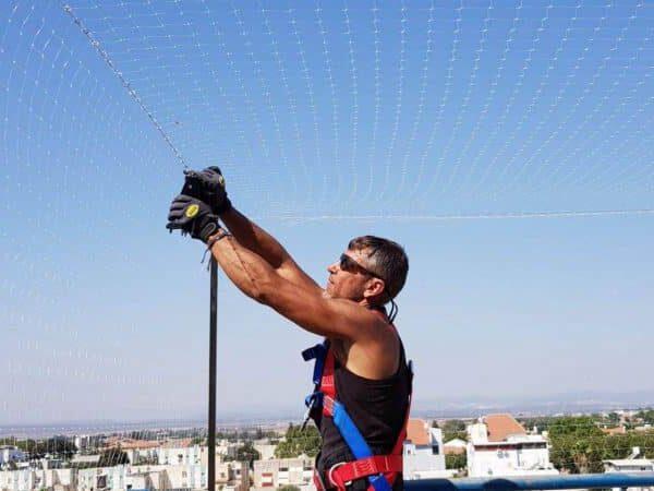 רשת יונים למרפסת פתוחה